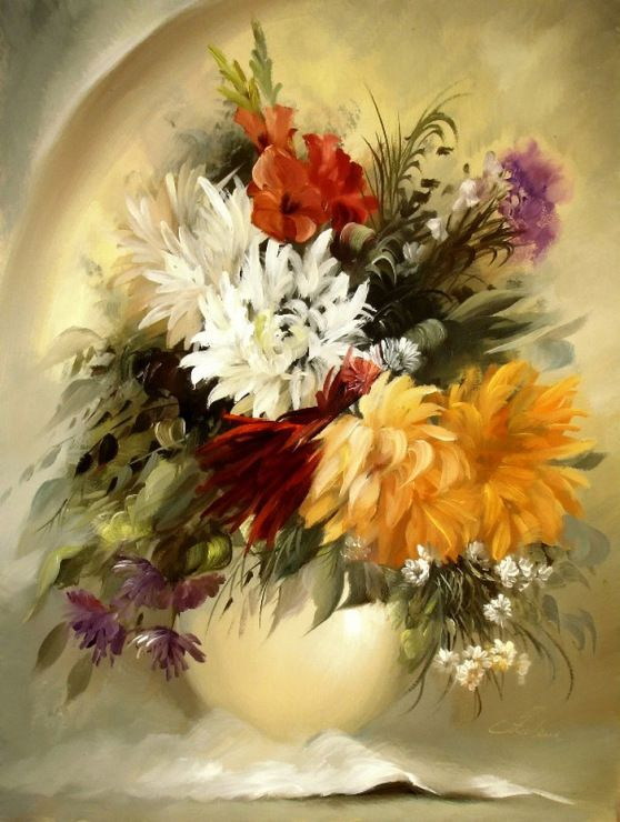 341 best obrazy images on Pinterest | Art flowers, Oil paintings and ...