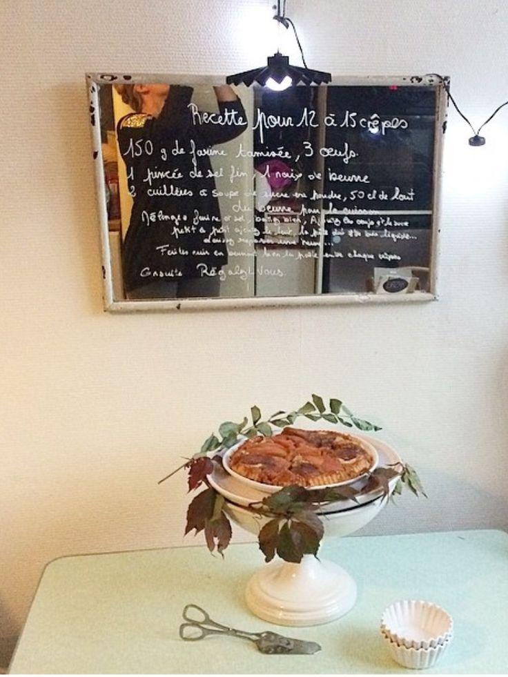 Miroir gateau tarte aux coings