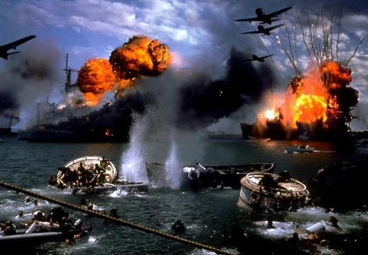 #6: The Attack on Pearl Harbor Conspiracy    Movie scene from Pearl Harbor.  The Pearl Harbor conspiracy states that the U.S. government knew Japan was going to attack Pearl Harbor in advance but refused to do anything about it. The U.S. allowed the attack to happen in order to give them motive to fight Japan and enter World War 2.