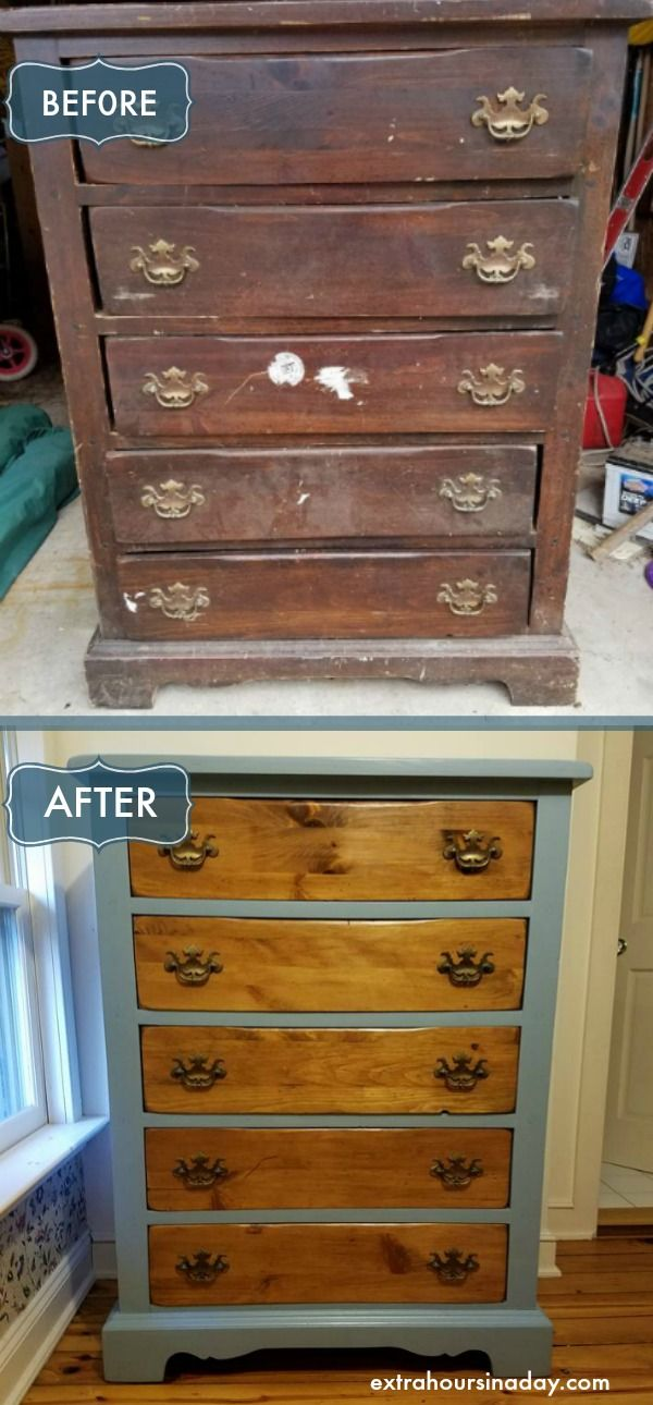 Dresser Makeover In Colonial Blue Extra Hours In A Day Shabby Chic Dresser Dresser Makeover Diy Furniture