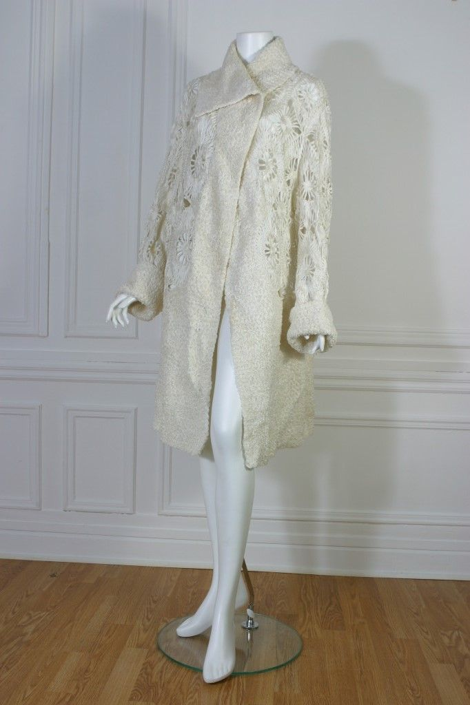 Superb guipure coat, Haute couture, circa 1925