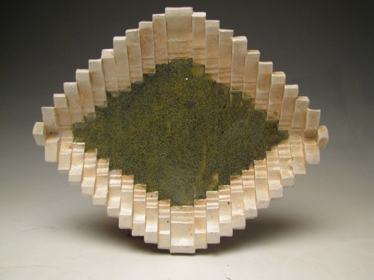 Wood fired Ceramic plate by Lauren Young.