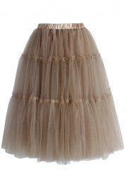 This + Brown leotards for my featherduster bridesmaids! #beourguest #beautyandthebeast  Amore Tulle Midi Skirt in Caramel