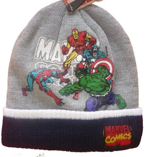Official SuperHeroes Marvel Grey Beanie: Hulk, Spiderman, Captain America & Iron Man Marvel Comics SuperHeroes Licensed Merchandise,http://www.amazon.com/dp/B00GVGJVSE/ref=cm_sw_r_pi_dp_2aU6sb0S31046CGJ