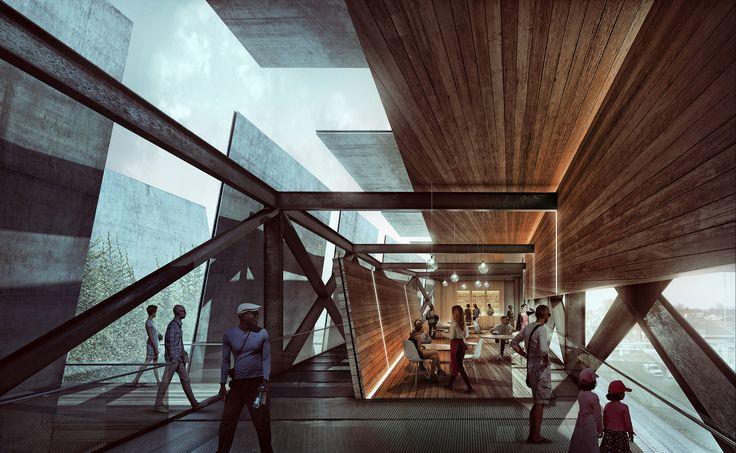 Alex hogrefe train pavilion architecture vray sketchup 03