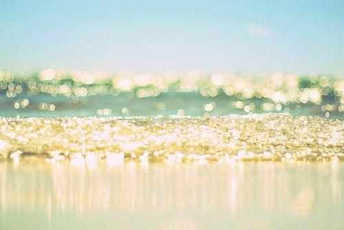 ocean...: Salts Water, Glitter Sea, Sparkle Waves, Gold Ocean, Ocean Waves, Beautiful, Golden Ocean, Ocean Sparkle, The Beaches