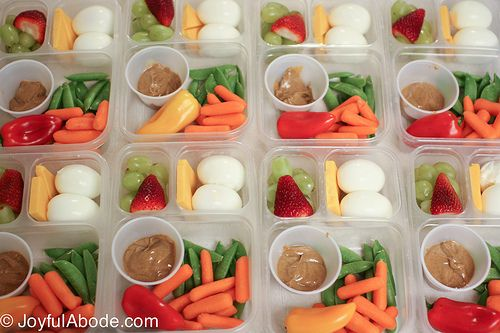 Homemade Starbucks Bistro Boxes (but better) - Joyful Abode: I'd rather have ranch than almond butter but I just prefer to dip my veggies in something savory and salty.