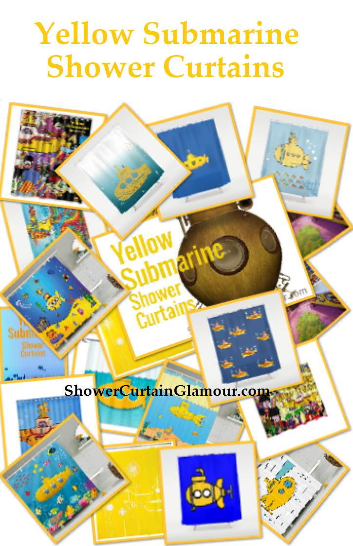 19 best yellow submarine shower curtain images on pinterest