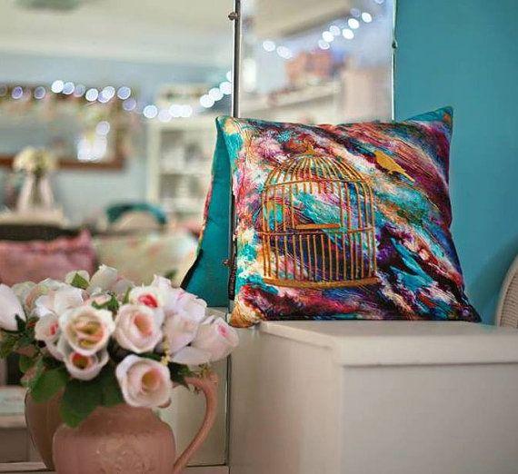 Freedom: Cushion | Handmade | Art Design | Throw pillow $65 http://coloursofhope.com.au/store?category=cushion