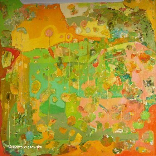 Majowy, Beata Wąsowska, 100x100, olej na płótnie, nr kat. 26-09