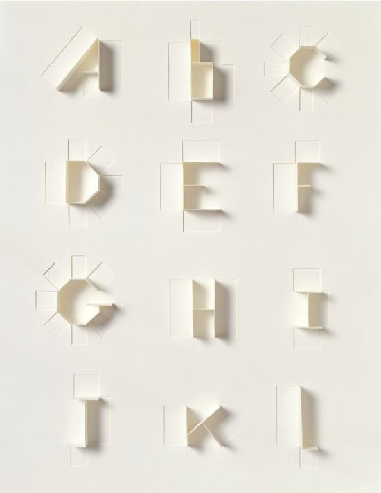 Folding Paper Typography | Origami Architecture                                                                                                                                                                                 More