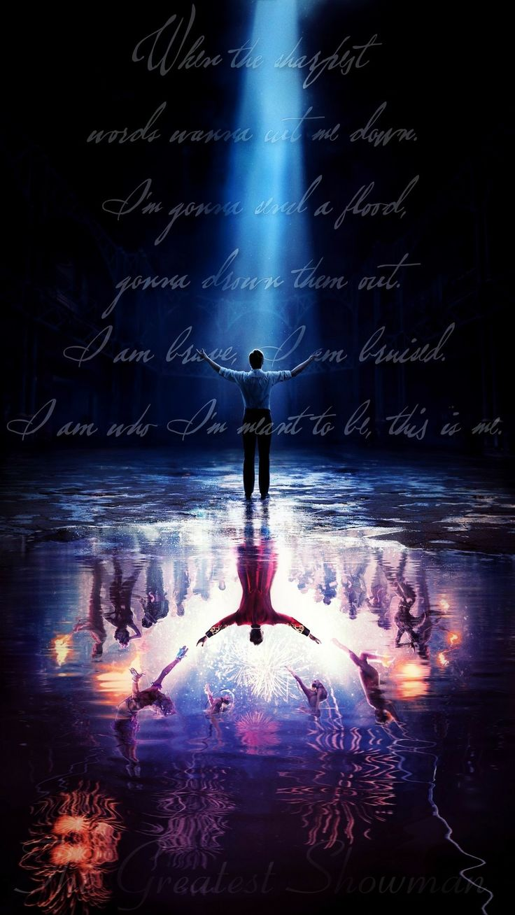 """The Greatest Showman """"This Is Me"""" lyric wallpaper"""