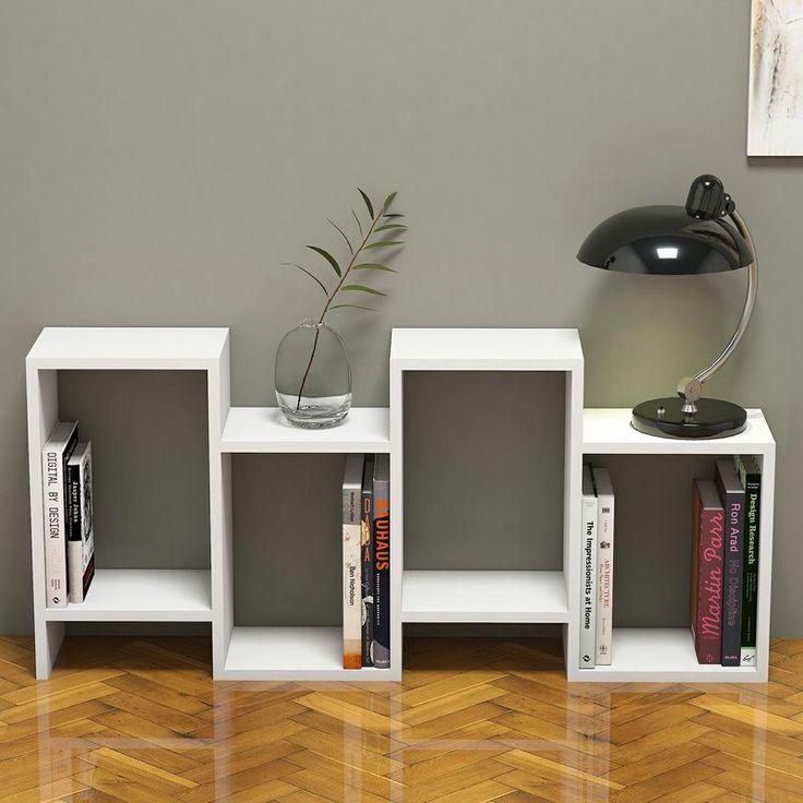 Ebern Designs Genola Modern Geometric Bookcase | Wayfair   – Oak Street