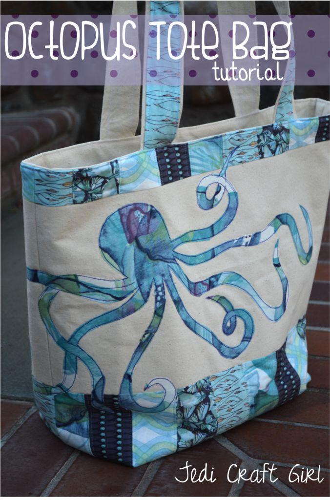 octopus tote bag photo