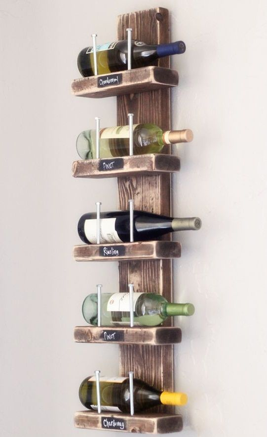 A #DIY #wine rack is perfect for the holiday season