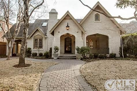1927 cottage style house in Highland Park, Texas