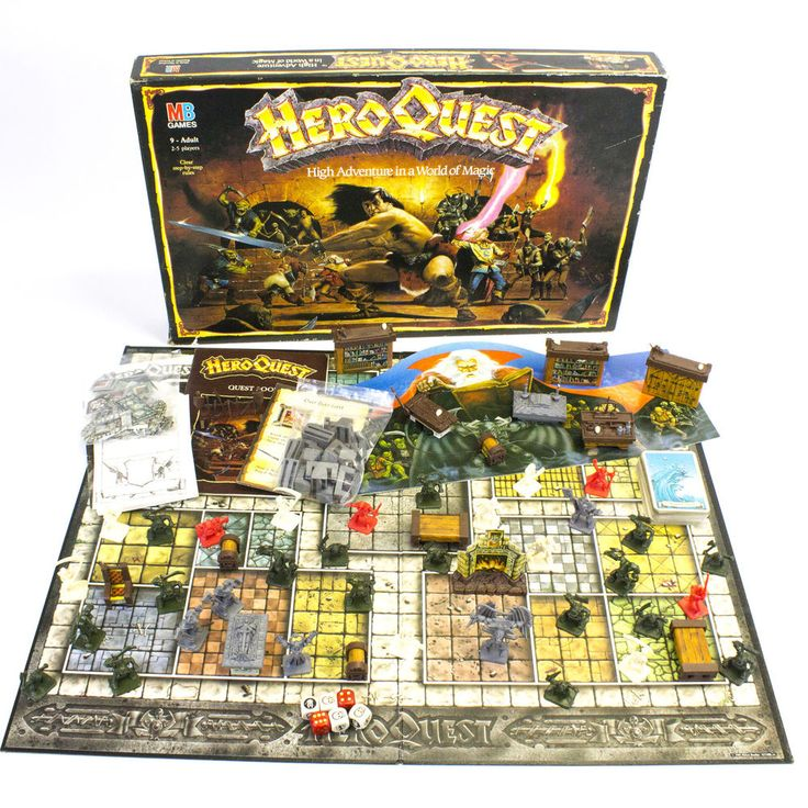 Vintage MB Heroquest Board Game Published by Games