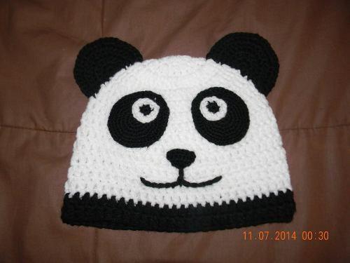 gorrito de oso panda a crochet - Buscar con Google