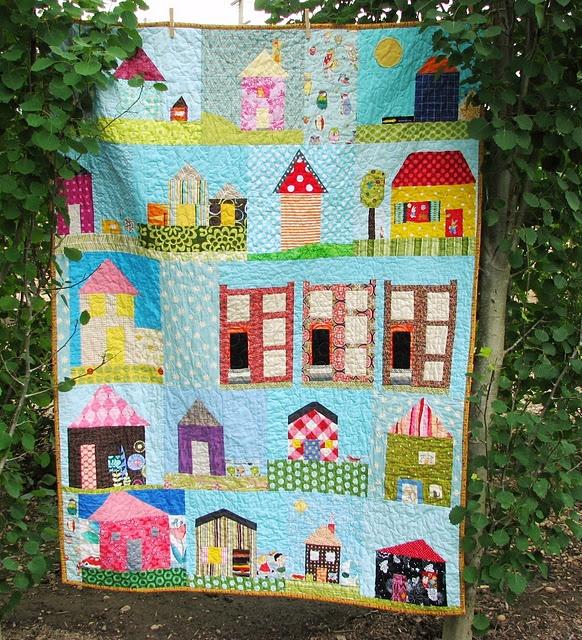 quilt.Ideas, Little House, Minis Quilt, Quilt House, Blue Elephant, House Quilts, Dolls House, Elephant Stitches, Baby Quilt
