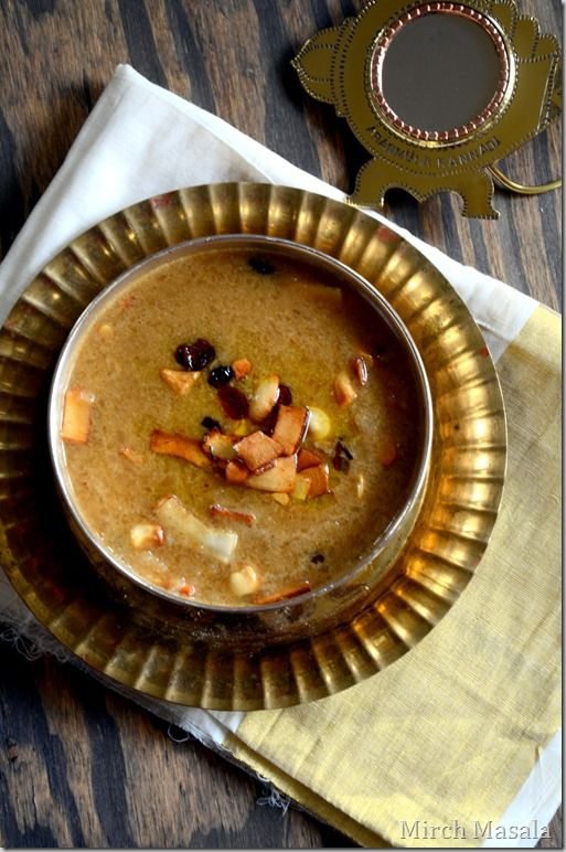 Aval Payasam ~ Beaten Brown Rice (Poha) Pudding with Jaggery and Coconut Milk -  Kerala Sadya Recipes Vishu Onam Vegan | Gluten Free www.cookingcurries.com