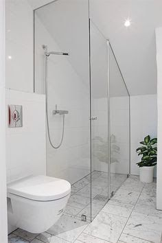 attic bathrooms with sloped ceilings - Google Search More