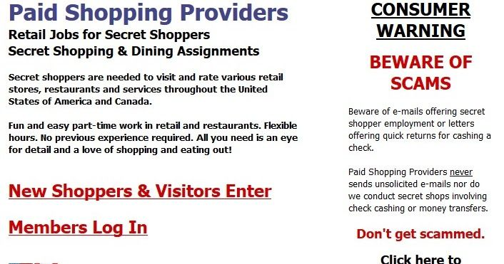http://ift.tt/2tO1Asz ==>Paid Shopping Providers review / Retail Jobs for Secret Shoppers Secret Shopping & Dining AssignmentsPaid Shopping Providers review : http://ift.tt/2vUS605  Retail Jobs for Secret Shoppers Secret Shopping & Dining Assignments Secret shoppers are needed to visit and rate various retail stores restaurants and services throughout the United States of America and Canada. Fun and easy part-time work in retail and restaurants. Flexible hours. No previous experience…