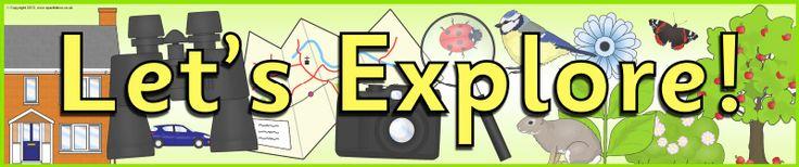 Let's Explore! display banner (SB9435) - SparkleBox