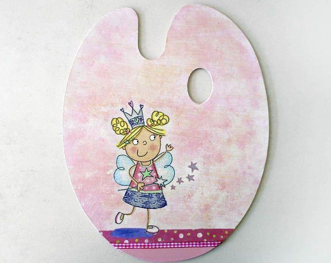 Fairy Decor - Girly Decor - Fairy Room Decor - Pink Nursery Decor - Fairy Sign - Tooth Fairy Gift - Custom Name Sign - ArtFly Creations