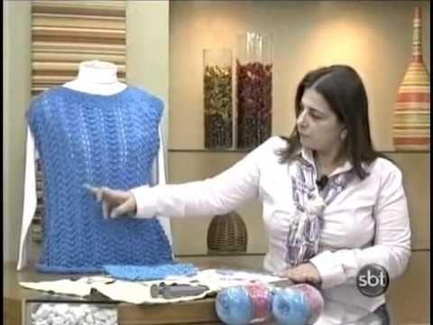 Blusa de tricô Azul by Cristina Amaduro ( Receita corrigida)