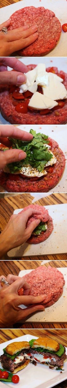 Caprese Stuffed Burgers