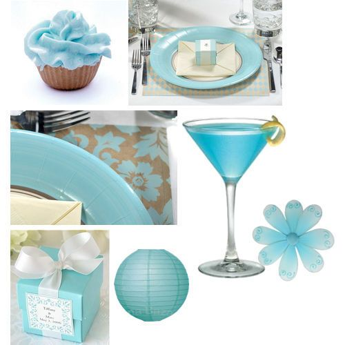 ideas for alicia's something blue bridal shower - doing blue and brown - doing the boxes and cupcakes for sure!