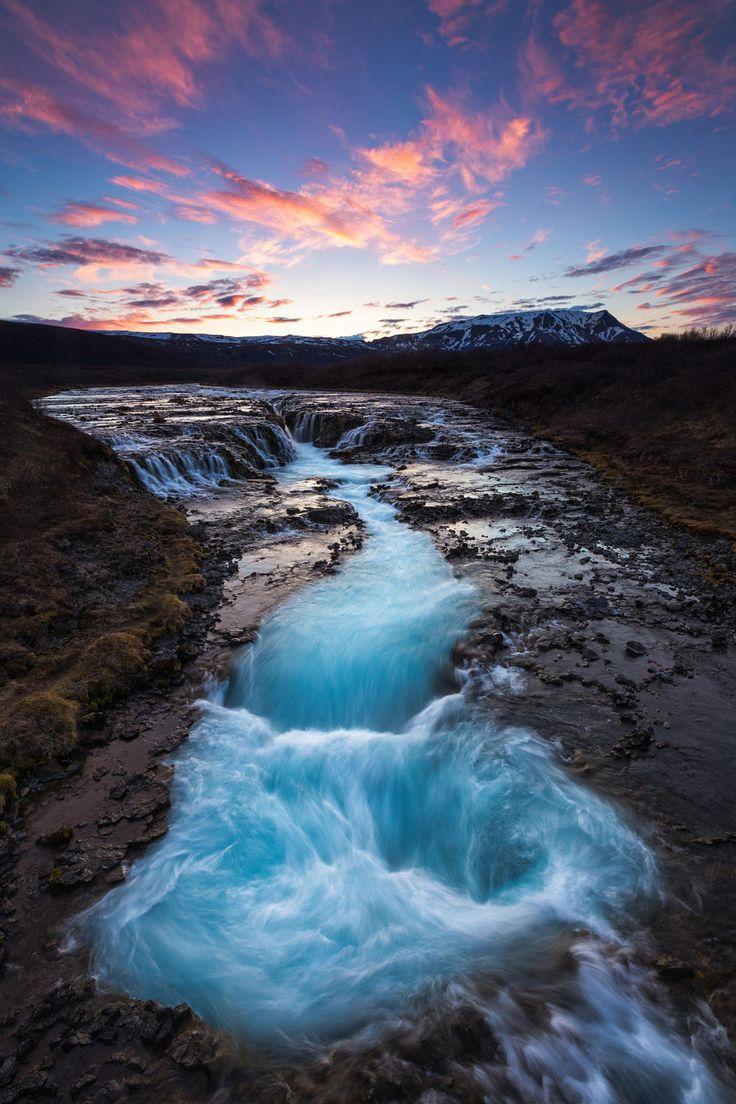 An Hidden Gem - Brúarfoss waterfall by Arnar Guðjónsson - Photo 70174793 - 500px