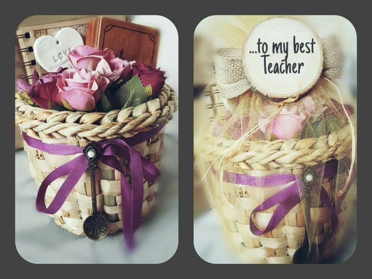 Hediyelik sepetimiz öğretmenler günü için hazırlandı  öğretmenler günü hediyesi  hediye sepeti  İletişim:info@atolyesandalagaci.com