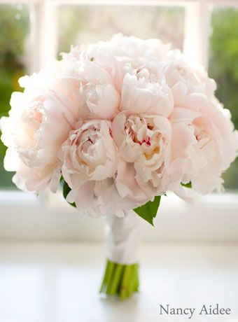 peony bouquet by Wedding Flowers by Lisa
