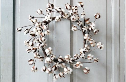 Our Cotton Wreath is made from natural cotton steams and flowers. Hang this…