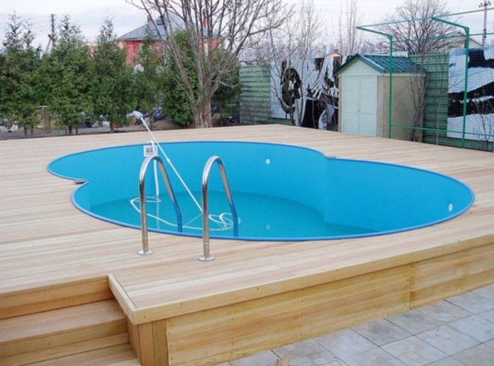 Pool Deck Ideas For Above Ground Pools | Pool Design Ideas