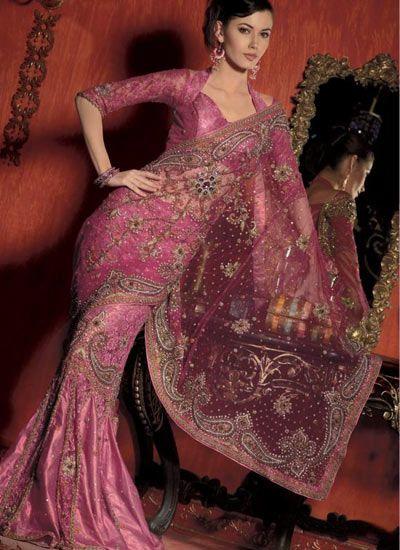 Think Pink! 12 Gorgeous Pink Bridal Saris & Lenghas