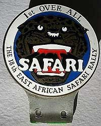 Safari Rally 1971 Badge