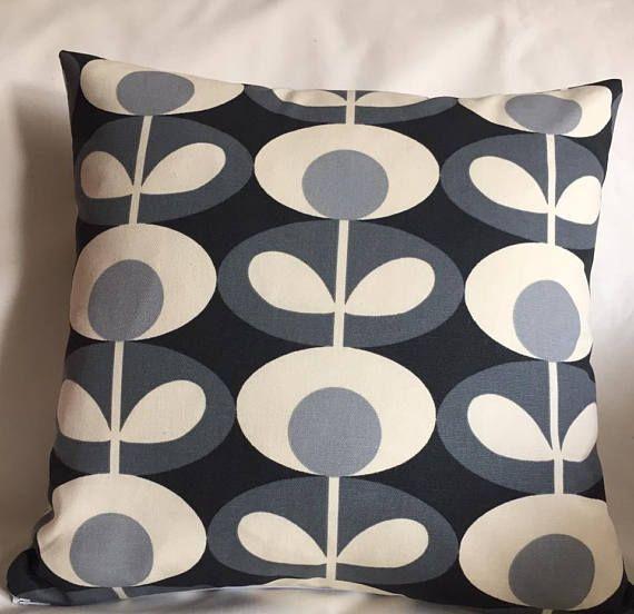 Orla Kiely Cushion Cover Grey and Black Cushion Cover