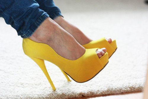 Yellow High Heels - High Heels Photo (35867322) - Fanpop