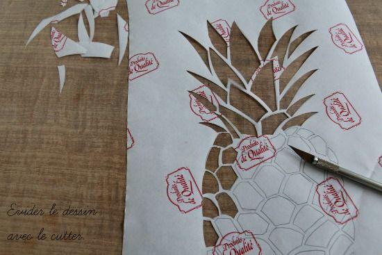 Toutes les explications pour créer vous même votre t-shirt ananas pour l'été. Imprimez le printable et suivez les étapes du DIY pour un t-shirt personnalisé