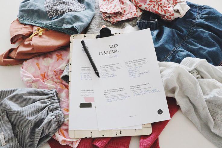 Druckvorlage Planer Kleiderschrank, Kinderkleidung Planer, minimalistischer Kleiderschrank, capsule wardrobe planner,