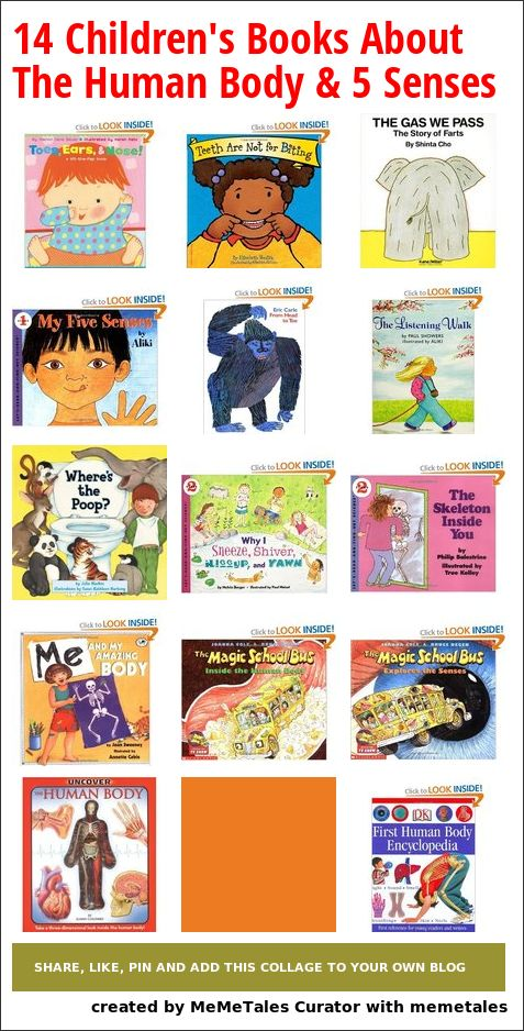 14 fun children's books about the human body. A wide range of books from 1-5 year olds