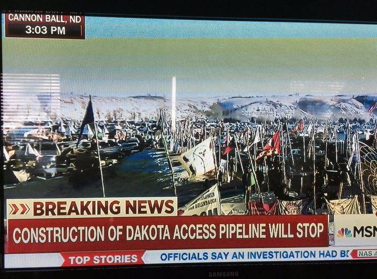 #Breaking: Construction of the #DAPL will stop immediately. The Army Corps of Engineers has denied an easement for the Dakota Access Pipeline. Another environmental impact assessment will be done, but this denial of the easement seems to settle the #StandingRock issue for good. The pipeline NOT likely to run under Missouri River.
