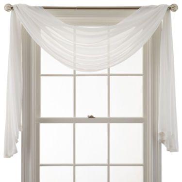 MarthaWindow™ Airy Sheer Window Scarf - JCPenney