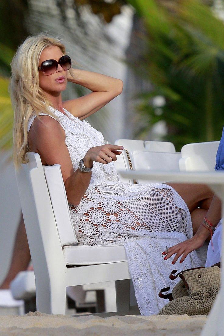 awesome Victoria Silvstedt White Bikini Arrival in St. Barts Check more at https://10ztalk.com/2016/12/23/victoria-silvstedt-white-bikini-arrival-in-st-barts/