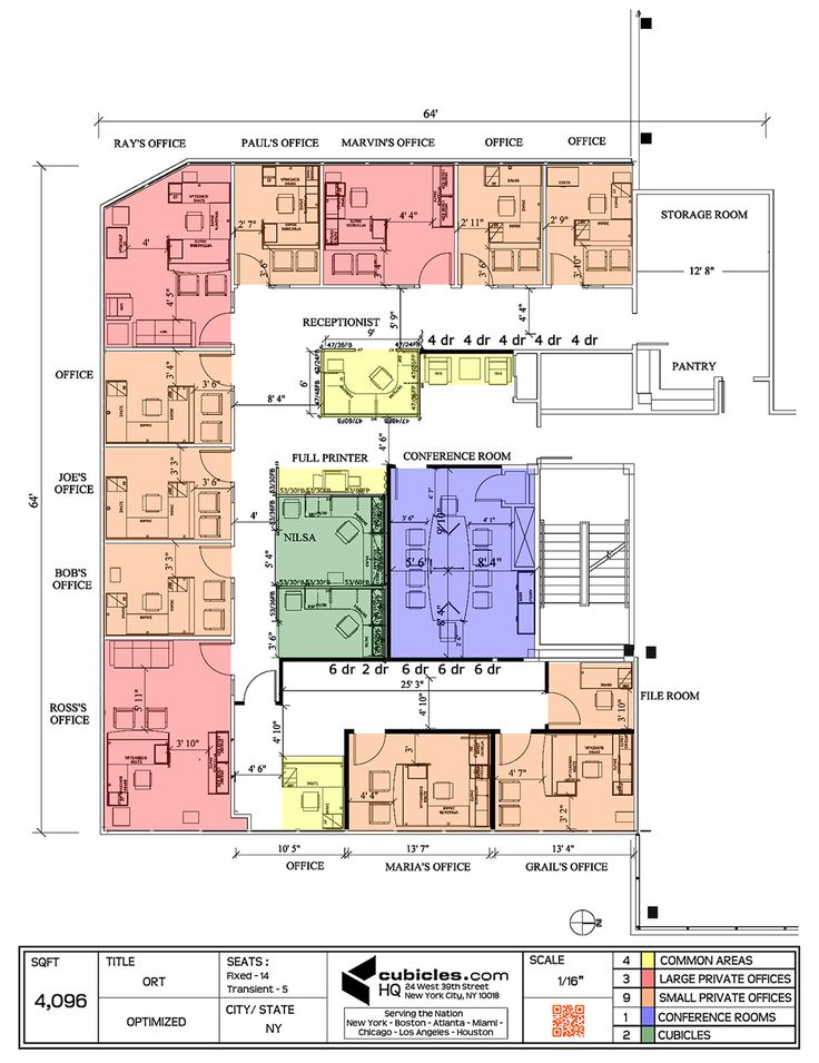 Office Layout Plan For Shaped Building