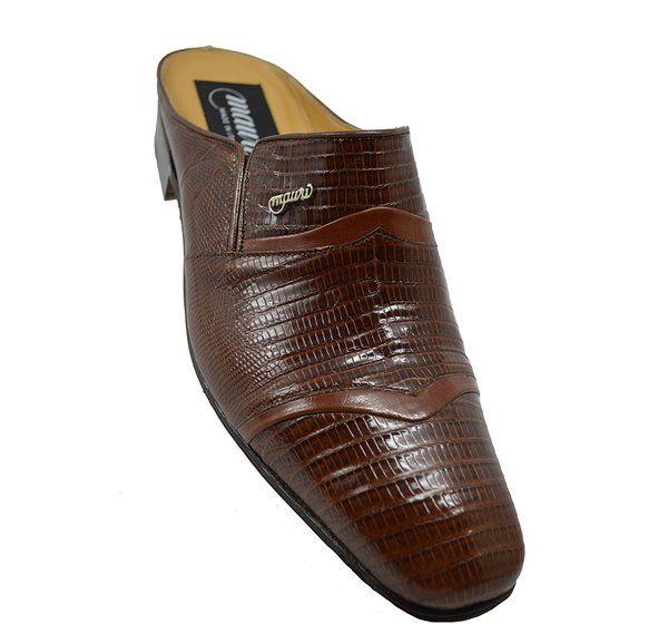 Mauri 4501 Gold Lizard Half Shoe