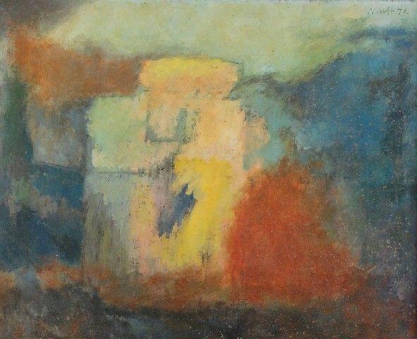 Jerzy WOLFF (1902-1985)  Łazienki, 1972 olej, płótno; 65 x 81 cm;