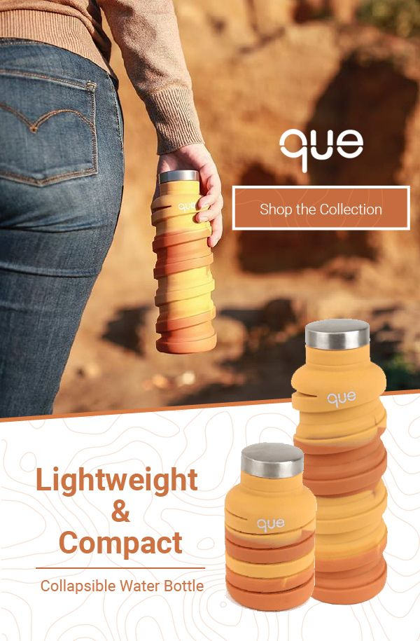 29f0ee0b944b One bottle TWO sizes. que Bottle is the collapsible bottle designed for your  active lifestyle